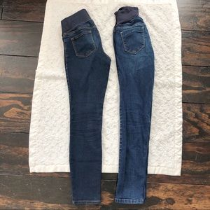 Old Navy Skinny Maternity Jeans (Two Pairs)